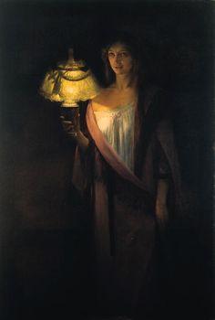 Edouard Rosset-Granger, La somnambule (1897). Lovely light and shadow.