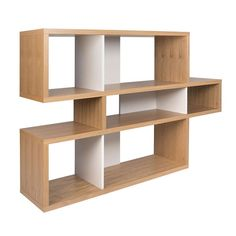 TemaHome London Modern Oak + White Bookcase – Home Office Design For Women Contemporary Rustic Decor, Contemporary Bookcase, Modern Bookcase, Contemporary Furniture, Retro Furniture, Furniture Layout, White Furniture, Cheap Furniture, Furniture Decor