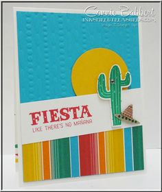 Birthday Fiesta, Fiesta Time Framelits, Stampin' Up!, #stampinup, cactus, southwest, created by Connie Babbert, www.inkspiredtreasures.com