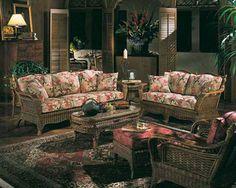 Wicker and Rattan Living Room Furniture - Braxton Culler - Hampton Outdoor Wicker Furniture, Cool Furniture, Outdoor Decor, Sectional Furniture, Living Room Furniture, Furniture Collection, Restoration Hardware, Design, Home Decor