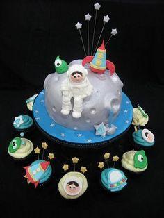 Rocket ship cupcakes