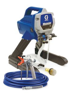 Paint walls, doors and more with the Graco® Magnum® X5 Airless Paint Sprayer. Equipped with a power flush cleaning system, this paint sprayer easily attaches to a standard garden hose for quick cleanup. Whether it's painting your fence or staining your deck, the Graco® Magnum® X5 Airless Paint Spray will help you get the job done in no time.