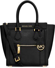 MICHAEL Michael Kors Colette Medium Messenger Bag, Black