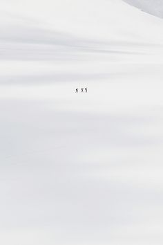 3 hikers in the snowy tundra