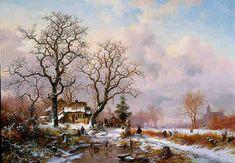 Frederik Marinus Kruseman - Winterlandschap (4)