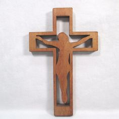 "Teak Wood 8"" Cross Crucifix"
