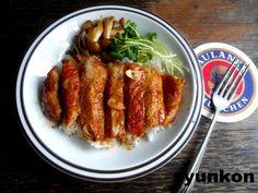 【簡単!!】おすすめです。豚ロース肉のガーリックバターしょうゆ丼   山本ゆりオフィシャルブログ「含み笑いのカフェごはん『syunkon』」Powered by Ameba