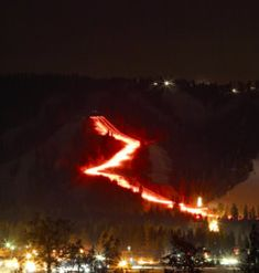 Annual New Year's Eve Torchlight Parade at Snow Summit : Big Bear Lake