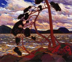 The West Wind by Tom Thomson. He was one of the Group of Seven, a well known group of Canadian artists from the early twentieth century. The West Wind was his final painting. Emily Carr, Canadian Painters, Canadian Artists, Kandinsky, Landscape Art, Landscape Paintings, Rose Paintings, Landscape Posters, Abstract Paintings