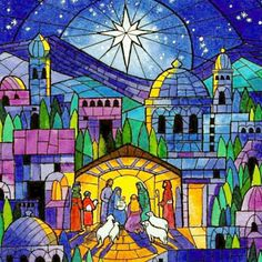 stained glass nativity - Bing images