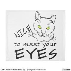 Cat - Nice To Meet Your Eyes Duvet Cover