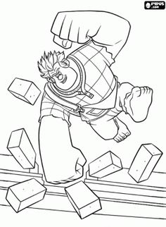 61 Best Wreck It Ralph Colouring Pages Images Coloring Books