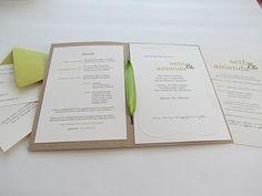 Paper Bag Wedding Invitation  www.maylastudios.com