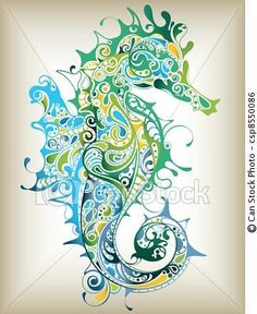 Omg. This is amazeballs. I love the swirly tribal effects and color combo. It would be an awesome tattoo.
