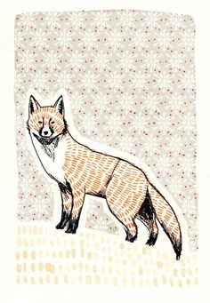What a fox! I want this as an iPod case.