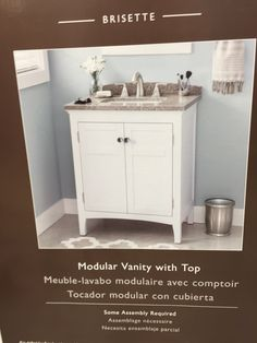 Allen Roth Southbay Cove White Integral Bathroom Vanity With - Bathroom vanity 30 x 18 for bathroom decor ideas