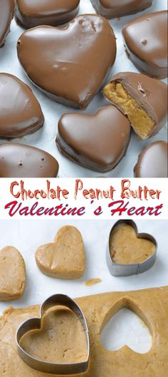 Chocolate Peanut Butter Valentine's Heart - Food and Drink Recipes