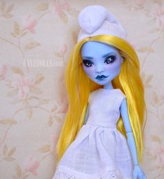 She is the REAL Smurfette girl. She has to be very careful though, because the…