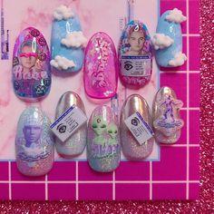 Untitled November 25 2019 at nails Cute Acrylic Nails, Cute Nails, Pretty Nails, Aycrlic Nails, Hair And Nails, Kawaii Nails, Crazy Nails, Dream Nails, Color Street Nails