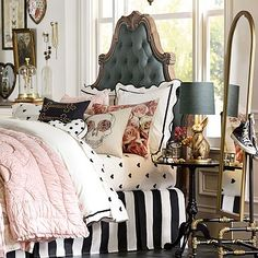 I know I'm supposedly not a teen anymore but I love everything about this bed. Parisian Headboard #pbteen