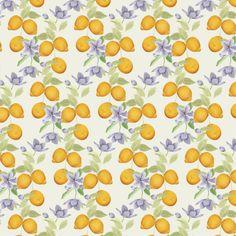 Estampa limões e flores by Juliana Sakamoto