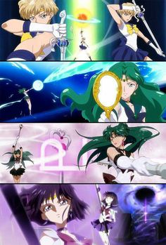 Sailors of the Outer Solar System Sailor Pluto, Sailor Moon Girls, Arte Sailor Moon, Sailor Moon Manga, Sailor Neptune, Sailor Jupiter, Sailor Venus, Sailor Moon Crystal, Cristal Sailor Moon