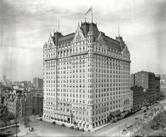 """They just don't make buildings like they use to. New York circa 1912. """"Plaza Hotel, Fifth Avenue."""" 8x10 inch dry plate glass negative, Detroit Publishing Company."""