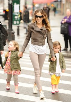 SJP's kids are too adorable in those military-inspired jackets