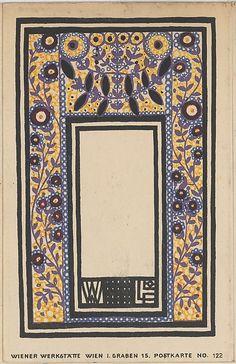 Ornament Card (Schmuckkarte), Franz Lebisch (Austrian, Vienna 1881–1965…