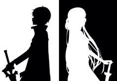 SAO Kirito & Asuna silhouette