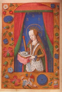 Illustration From a Book of Hours given to Princess Margaret Tudor by her father, Henry VII.