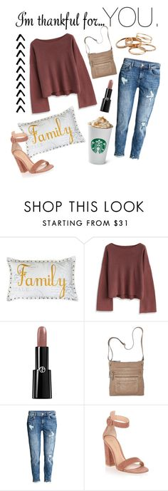 """""""Untitled #120"""" by emily-dominguez321 ❤ liked on Polyvore featuring Thro, Chicwish, Giorgio Armani, Bueno, H&M, Gianvito Rossi, Kendra Scott and imthankfulfor"""