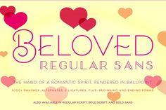 Beloved Sans Regular by Laura Worthington on @creativemarket