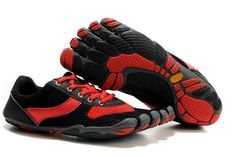 separation shoes 7fffc 5b4b8 Vibram Five Fingers Damen Geschwindigkeit Schuhe Schwarz Rot