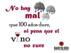 Ya lo sabéis, no hay pena que el vino no cure ;)