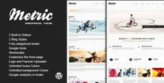 See More METRIC - Premium WordPress Themeyou will get best price offer lowest prices or diccount coupone