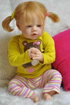 REBORN Adorable Strawberry Blonde Blue Eyed Baby by DreamBabys, $520.00
