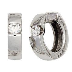 Damen-Creole 2 Diamant-Brillanten 14 Karat (585) Weißgold 0.30 ct. Dreambase http://www.amazon.de/dp/B00N5BXMV0/?m=A37R2BYHN7XPNV