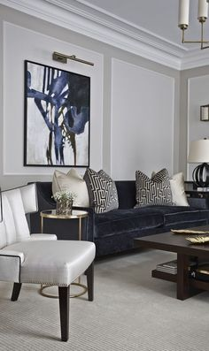40+ Grey Interior Design U0026 Inspiration To Make The Most Of Your Space. Navy  Blue And Grey Living RoomNavy ...