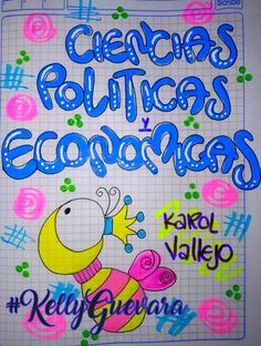 #KellyGuevara   #cuadernos School Notebooks, Chalk Markers, My Notebook, Smash Book, Cover Pages, Diy Art, Back To School, Origami, Diy And Crafts