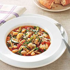 Spaghetti Minestrone (sub veg stock for chicken stock)
