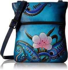 548ffa5459 online shopping for ANUSCHKA Handpainted Leather Slim Cross Shoulder Bag  from top store. See new offer for ANUSCHKA Handpainted Leather Slim Cross  Shoulder ...