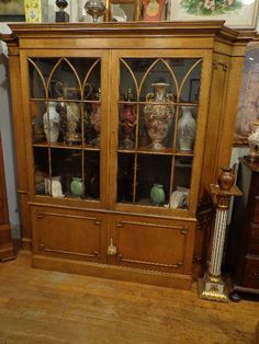 Baker Furniture French Regency Fruitwood China Cabinet / Breakfront