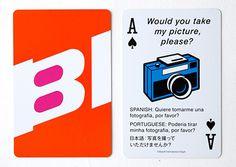 幻のエアライン BRANIFF(ブラニフ)の、旅に役立つフレーズとイラストが素敵なトランプ!「Braniff Playing Cards」