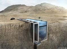 25 images of the Casa Brutale by OPA, a conceptual home embedded into the cliffside of Rhodes, overlooking the Aegean Sea.