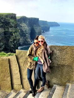 The Cliffs of Moher, one of the 7 wonders of nature. We were the first people to arrive there and it was awesome to have the place to ourselves.