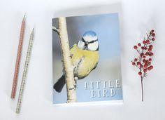 Notebook carnet de note petit cahier journal oiseau Mésange par PetiteMesangeBleue