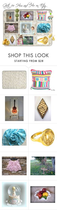 """""""Gifts for Him and Her on Etsy"""" by afloralaffair-1 on Polyvore featuring interior, interiors, interior design, home, home decor, interior decorating, Precious Moments, Fenton, Bebe and National Tree Company"""