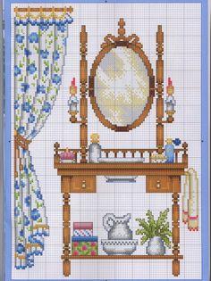 Gallery.ru / Photo # 1 - mirrors - irisha-ira Cross Stitch House, Cross Stitch Kitchen, Cross Stitch Samplers, Counted Cross Stitch Patterns, Cross Stitch Designs, Cross Stitching, Cross Stitch Embroidery, Embroidery Patterns, Stitches Wow