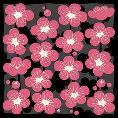 【京都掛札】木綿風呂敷 梅